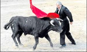 Pericás, en su última actuación en Alcudia, momentos antes de sufrir el infarto. Fotografía: Diario de Mallorca.