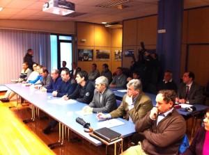 La Mesa del Encierro durante la reunión de ayer.