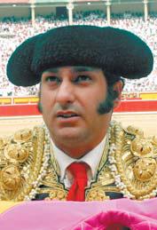 Morante de la Puebla en la plaza de Pamplona.