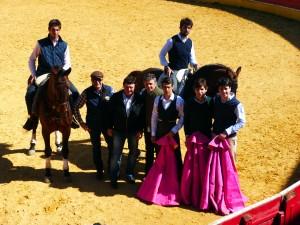 De izda a dcha., Quique Ríos, José Luis Pérez Gil, José Luis Casaús, Álvaro Palacios, Francisco Marco, Roberto Armendáriz, Javier Marín y Toñete.