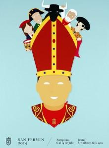 Imagen que anunciará las fiestas de San Fermín de este año.