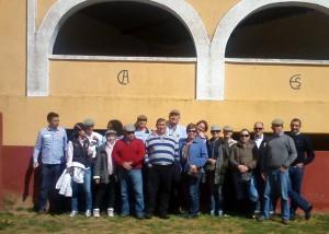 Los socios del Cañada Bardenas en la finca de El Canario.