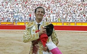 David Mora cortó el año pasado en Pamplona tres orejas en dos tardes.