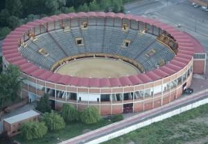 Vista aérea de la plaza burgalesa El Plantío.