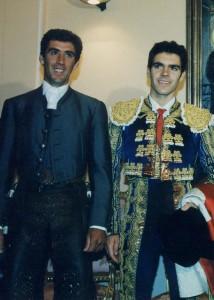 Pablo Hermoso de Mendoza y José Tomás en 1999. Fotografía: pablohermoso.net