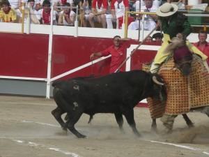 Festejo en Castejón en 2009, último año en que celebró su feria taurina.