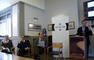 La comisión taurina de la Casa de Misericordia en el momento de presentar los carteles de la Feria del Toro 2014.