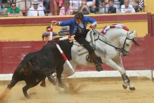 Hermoso sobre 'Pirata' ayer en Burgos.