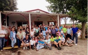 Los socios del Club Taurino de Arguedas en la ganadería Los Maños.