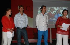 Momento del homenaje en Mejanes a Pablo Hermoso de Mendoza y a su hermano Juan Andrés.
