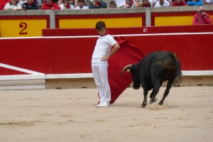 Cambiado por detrás con el comenzó su faena Javier Marín.