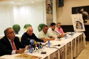 Un momento de la presentación de los carteles de Tudela.