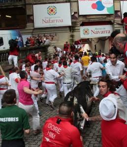 Un burraco, a punto de alcanzar la plazade toros. Fotografía: Jacobo Silevestre.