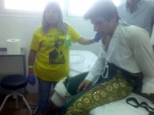 avier Marín fue intervenido en la enfemería de la plaza de Santa Eulalia.
