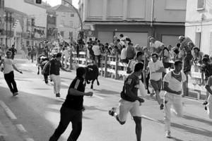 Los novillos de Los Recitales protagonizaron un encierro limpio, sin heridos. Fotografía: Vaquero.