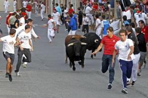 Escasos corredores ante los utreros de Pérez Villena. Fotografía: Javier Sesma.