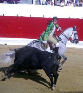 Joao Telles ante el toro de Castillejo de Huebra que abrió plaza.