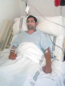 José Echeverría permance ingresado en el Hospital de Navarra. Fotografía: Carmen Remírez.