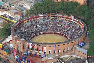 La plaza de toros de Bogotá.