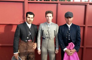 Francisco Expósito, Miguel Cuartero e Iván Abasolo antes del festival.