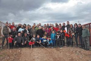 El grupo de aficionados fiteranos en la finca de Toropasión.