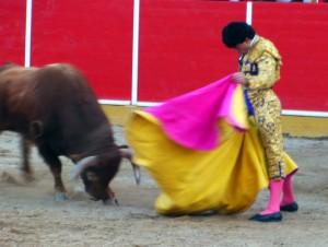Verónica de Oliva Soto en Fitero, el pasado mes de marzo, al sexto de la tarde, el último toro de Soto de la Fuente lidiado en Navarra.