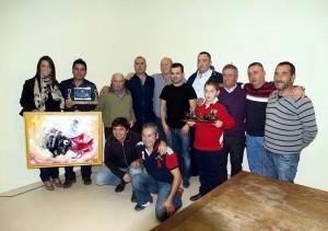 Los premiados juntos a representantes de Casta Ribera y pastores del encierro de Pamplona.