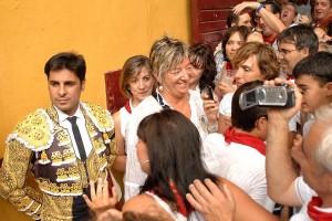 Rivera Ordóñez levantó pasiones en su última actuación en Navarra. Fue en la plaza de Tafalla, el 19 de agosto de 2012.