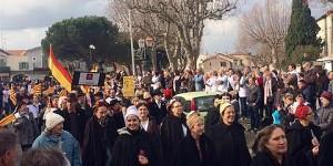 Un momento de la manifestación taurina en Eyragues.