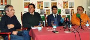 De izda. a dcha., José María Rodríguez, Tomás Campuzano, Salvador Vega y Manuel Ángel Millares.