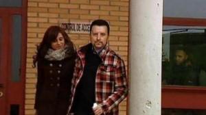 Ortega Cano en el momento de salir de la cárcel para disfrutar de su primer permiso penitenciario.