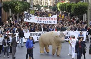 La manifestación de Castellón, un ejemplo de libertad.