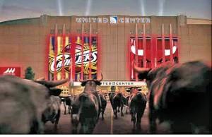 Imagen del vídeo de los Chicago Bulls para esta temporada, con los atoros frente a su estadio.
