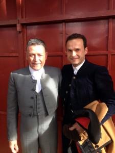 Manolo Rubio junto a Antonio Ferrera el sábado pasado en Candeleda, antes de hacer el paseíllo.
