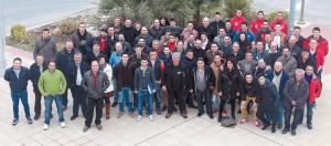 Representantes de los veinte municipios que participarán en el congreso del toro con cuerda. Fotografía: Vaquero.