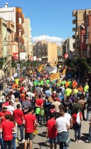Un momento de la manifestación en Amposta.