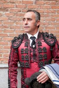 Pablo García Zambrana en Las Ventas antes de realizar un paseíllo.
