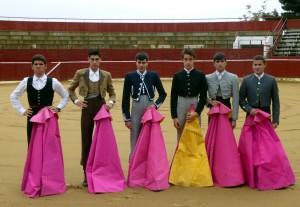 De izda. a dcha., Juan de María, Miguel Ángel Pacheco, Carlos Sánchez, Víctor Hernández, Adrián Henche y David Grau.