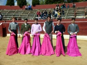 De izda. a dcha., José Antonio Alcalde, José Ruiz Magaña, Aitor Fernández, David Ruiz, Javier Gallardo y Daniel Reche.