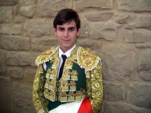 El novillero navarro Javier Marín acumula catorce novilladas picadas en su profesión.