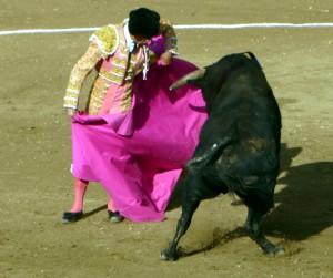 Francisco Marco por chicuelinas en la pasada Feria de Estella.