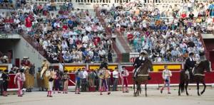 Paseíllo en la plaza de Pamplona el pasado 5 de julio.