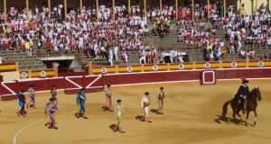 Primer paseíllo de la actual Feria de Santa Ana de Tudela.
