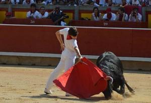 Javier Marín ya ofreció una clase de toreo en la plaza de Pmaplona.