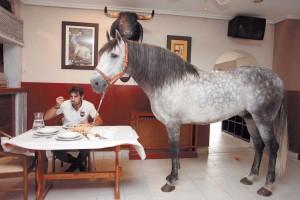 Comiendo con 'Duende'. Fotografía: Iván Benítez