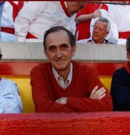 Eugenio Salinas, vocal de la comisión taurina de la Casa de Misericordia de Pamplona.