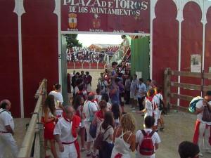 Isiegas sale de la plaza de San Adrián a hombros. Fotografía: Virumbrales.