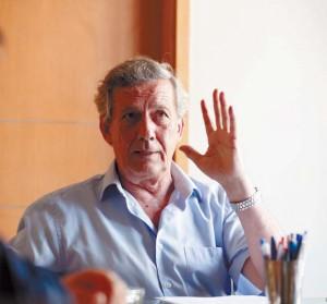 José María Marco, presidente de la comisión taurina de la Casa de Misericordia de Pamplona, durante la entrevista. Fotografía: Garzaron.