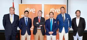 Empresarios, ganaderos y toreros que han firmado el convenio con RTVE