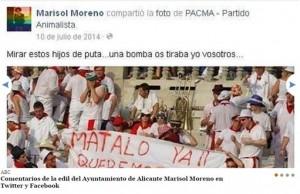 Captura del perfil de facebook de Marisol Moreno I ABC.ES